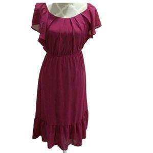 Monteau purple short sleeve dress